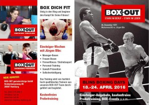 Flyer BLIN's BOXING DAYS Seite 4+1